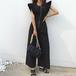 【set】流行に流されない 人気デザインファスナーファッションオールインワン2色 M-0442