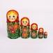 セミョーノフ 女の子マトリョーシカ(お花)5個型