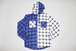 HOODED  CHECK  SH   -BLUxWHT-