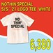 NOTHIN'SPECIAL / S/S '21 LOGO TEE  WHITE