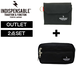 【送料無料/OUTLET/2点set】INDISPENSABLE Wallet+Pouch BLACK