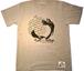 【在庫あり】 【funkキマグレ企画 第2弾Tシャツ】染み込みプリント ミックスグレーボディ✖︎ブラックインク