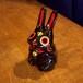 招き兎01(左手・黒)