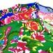 チャイナ花布のTシャツ☆ユニセックスMサイズ