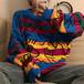 スウィート可愛いファッショントレンドゆったりカップルラウンドネック長袖厚手ニット・セーター