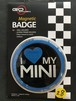 28番 ゴーバッジ I LOVE MY MINI BLUE
