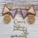◆SALE ¥300 OFF◆ Cute Ribbon  Pierce -Violet&Pink Border-