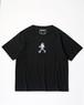 SHELTECH x OZAKI EMI  プリントTシャツ(BLACK)