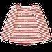 circle刺繍ボーダーカットソー/RED