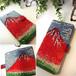 赤富士 手帳型iPhone6Plus