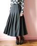 Christian Dior black pleats skirt