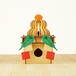 「鏡餅&三方19」木製フロアランプ