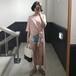 【EruMon】サイドスリットロングTシャツ ワンピース Tシャツワンピ Tワンピ