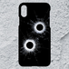 【iPhoneXS/X対応】弾痕ハードケース
