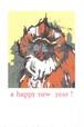 a happy new year マンドリル ポストカード No.0084