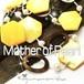 キュートなイエロー☆ マザーオブパール &バロック 淡水パール ヴィンテージ  ネックレス デザイナーロゴ刻印