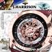 【J.HARRISON】JH-037PB 手巻き付&自動巻