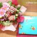 【勤労感謝の日】季節のお花のブーケ(生花)&【銀座千疋屋】銀座フルーツクーヘンセット FL-G-014