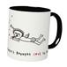 【バレンタイン&ホワイトデー スペシャル♥】マグカップ「エンジェル」2トーンカラーの可愛い天使のマグカップ!(ブラック / Black)