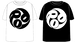 ROA logo T-SHIRTS (BLACK/WHITE)