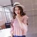 【お取り寄せ商品】plated sleeve off shoulder blouse 1647