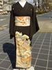 アンティーク着物★ちりめん★すばらしい友禅の黒留袖その2