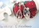 ホワイトクリスマスの風景のキラキラフレームピアス