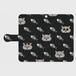 黒革手帳型スマホケース「ペルシャと魚の骨」(M/Sサイズ)