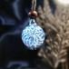 【試作品】雪の華ラティチェロフラワーのペンダント20201020-1