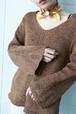 brown spring knit
