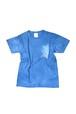 NO.585 藍染デザインTシャツ【XSサイズ】