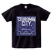 TSUBOMIN / BANDANA TSUBOMIN CITY T-SHIRT BLACK x NAVY