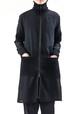 Highneck Zipper Coat