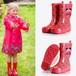 7860雨靴 キッズ  子供 子ども  ジュニア 長靴 男児 女児  レインブーツ 女の子 男の子 レインシューズ14.5cm-24cm 赤