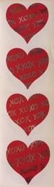 Red Hug&kisses Heart (台紙に黄ばみや皺あり)
