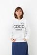 ブランドパロディデザイン!ココ・◯ャネル!ではなく、「ココ!チャンスですよ!」的な「COCO CHANCE」10オンス裏毛パーカー!/ホワイト