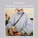 【お取り寄せ商品】フェミニンパフスリーブスウェット 7933