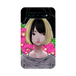#021-002 女の子系 モバイルバッテリー《ハマナスの花》 iPhone スマホ 充電器 作:クロレ