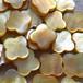 黄蝶貝 クローバーモチーフ 4ピース 12mm シェル ゴールド パーツ 素材