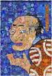 サガキケイタ版画作品|みかけハこハゐがとんだおふかい人だ