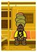 《山本周司 イラストポストカード》CY-12/ ターバンの男