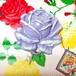 298 大きな薔薇の帯飾り (パールラベンダー)