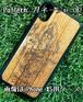 Type-A  スマホケース 木製 天然木 チーク材 おしゃれ iPhone android エスニック アジア タイ 一点物 個性 ウッド 男女兼用 ユニバーサルデザイン Pattern: ガネーシャ(B)