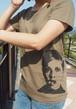 【Ladies'】ツイッギーTシャツ◇カーキ