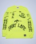 RAKUGAKI PAINT LIFE LONG T-Shirts Neon Yellow