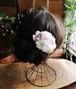 プリザーブドフラワーヘアアクセサリー 淡いピンク配色