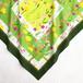 スカーフ|Flower field スミレ、タンポポ、etc(グリーン)(大判サイズ / コットン )