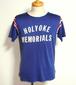 1960's トリコロールレーヨンアスレチックTシャツ フロッキープリント 実寸(M位)