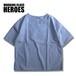 Key neck SS Doctor Shirt -Blue