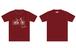 sumika / 自転車Tシャツ(バーガンディー)
